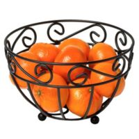 Spectrum™ Scroll Mini Fruit Bowl in Black