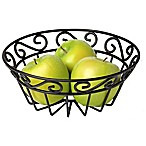 Spectrum™ Scroll Flat Mini Fruit Bowl in Black