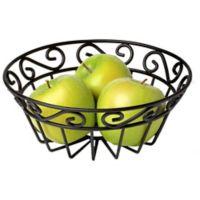 Spectrum™ Scroll Flat Mini Fruit Bowl in Black