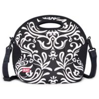 Built NY® Neoprene Damask Spicy Relish Lunch Tote in White/Black