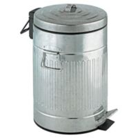 Wenko Steel 12-Liter Step-On Trash Can