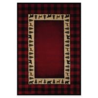 United Weavers Buffalo 5-Foot 3-Inch x 7-Foot 6-Inch Area Rug in Red