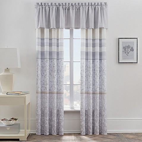 leaves window curtain panel and valance bed bath amp beyond 85724