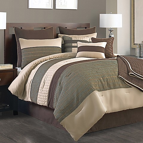 Lexiara 10 Piece Comforter Set In Taupe Brown Bed Bath