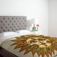 DENY Designs Valentina Ramos Helios King Duvet Cover in Orange