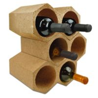 Honeycomb 9-Bottle Cork Wine Holder