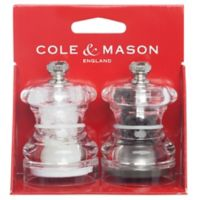 Cole & Mason Button Salt and Pepper Mill Set