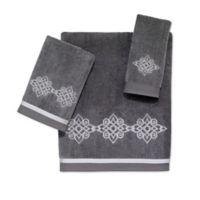 Avanti Riverview Fingertip Towel in Nickel/Silver