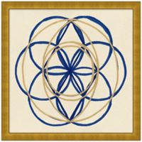 Navy and Gold Geo 3 Wall Art