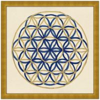 Navy and Gold Geo 6 Wall Art