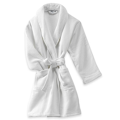 Haven Spa Waffle Robe in White