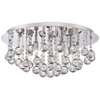 Quoizel Bordeaux 5-Light Flush-Mount Fixture in Polished Chrome