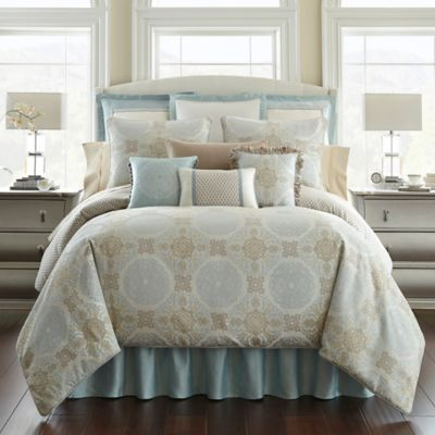 Buy Cream Blue Comforter Set From Bed Bath Beyond