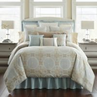 Waterford® Linens Jonet Reversible King Comforter Set in Cream/Blue