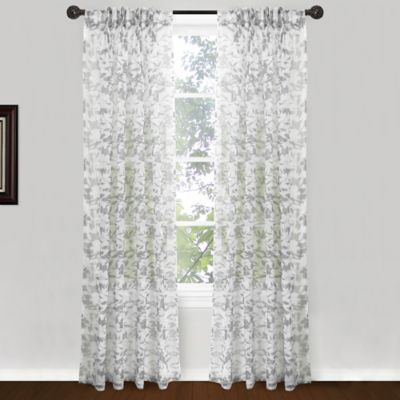 park b smith endless floral pinch pleat 84inch window curtain panel pair in
