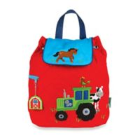 Stephen Joseph Farm Quilted Backpack in Red