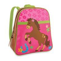 Stephen Joseph Horse Go Go Backpack in Pink/Brown