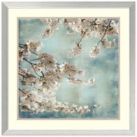 John Seba Aqua Blossoms II Framed Art Print