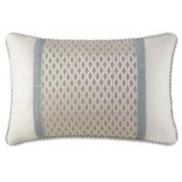 Waterford® Linens Jonet Breakfast Throw Pillow in Cream/Blue