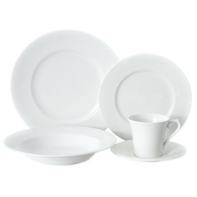 Mikasa® Satin White 5-Piece Dinnerware Set  sc 1 st  Bed Bath u0026 Beyond : top rated dinnerware sets - pezcame.com
