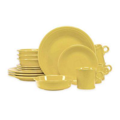Fiesta® 16-Piece Dinnerware Set in Sunflower  sc 1 st  Bed Bath u0026 Beyond & Buy Sunflower Dinnerware from Bed Bath u0026 Beyond