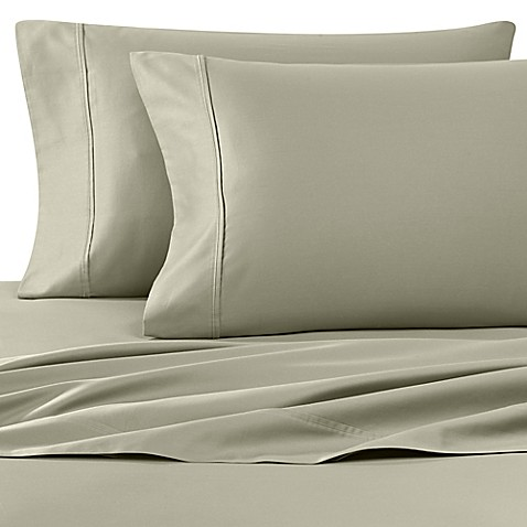 Buy Wamsutta 400 Thread Count Sofa Bed Full Sheet Set in Sage from Bed Bath & Beyond