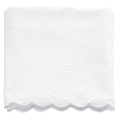 Glenna Jean Matelasse Twin Coverlet In White