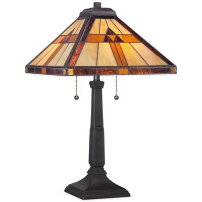 Buy tiffany lamps from bed bath beyond quoizel tiffany bryant table lamp in black aloadofball Images
