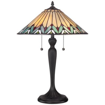 bed bath and beyond lighting. Quoizel Tiffany Pearson Table Lamp In Black Bed Bath And Beyond Lighting H