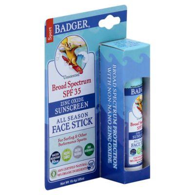 Badger .65 oz. All Season Face Stick Sunscreen Unscented SPF 30