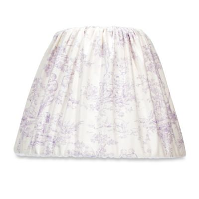 Buy purple lamp from bed bath beyond glenna jean penelope toile lamp shade aloadofball Images