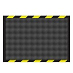 Weather Guard™ 2-Foot x 3-Foot Garage Mat in Charcoal with Striped Border