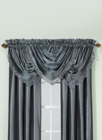 Argentina 63-Inch Rod Pocket Window Curtain Panel in Peacock