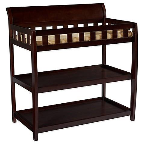 Genial Delta™ Children Bentley 2 Shelf Changing Table In Chocolate