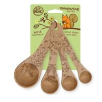 Get Real™ Woodland Beechwood 4-Piece Measuring Spoon Set in Natural