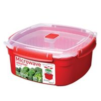 Sistema® Nonstick 3-Liter Large Microwave Steamer in Red