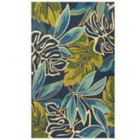 Couristan® Covington Collection Areca Palms 2-Foot x 4-Foot Rug in Blue