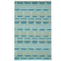 Kevin O' Brien by Capel Rugs Tuscan Sun 5-Foot x 8-Foot Rug in Turquesa Blue
