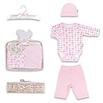 Tadpoles™ by Sleeping Partners Mod Zoo Size 0-6M 5-Piece Gift Set in Pink Elephant