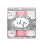 Lulujo Baby Mini Owl Muslin 3-Pack Blanket Set in Pink