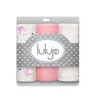 Lulujo Baby Mini Owl Muslin 3-Pack Blanket Set in Pink