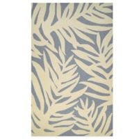 Couristan Covington Collection Palms 5-Foot 6-Inch x 8-Foot Rug in Azure
