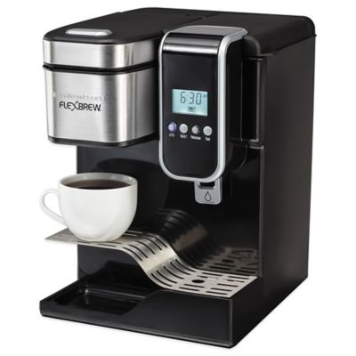 Single Coffee Maker Bed Bath And Beyond : Hamilton Beach FlexBrew Programmable Single-Serve Coffeemaker with Hot Water Dispenser - Bed ...