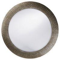 Howard Elliott 32-Inch Round Bergman Mirror in Silver