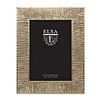 Elsa L 5-Inch x 7-Inch Textured  Frame in Champagne