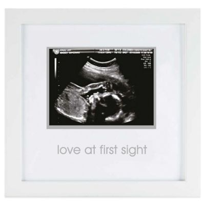 pearhead 3 inch x 5 inch sonogram wood frame in white