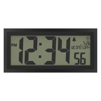 la crosse jumbo atomic digital wall clock