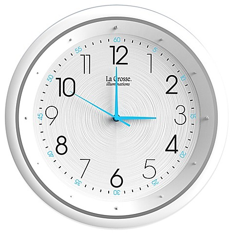 La Crosse Technology Night Vision Analog Wall Clock Bed