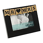 Isaac Jacobs 4-Inch x 6-Inch  Mr & Mrs  Frame in Black