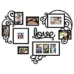 "Wallverbs™ 7-Piece ""Love"" Photo Frame Set in Satin Black"